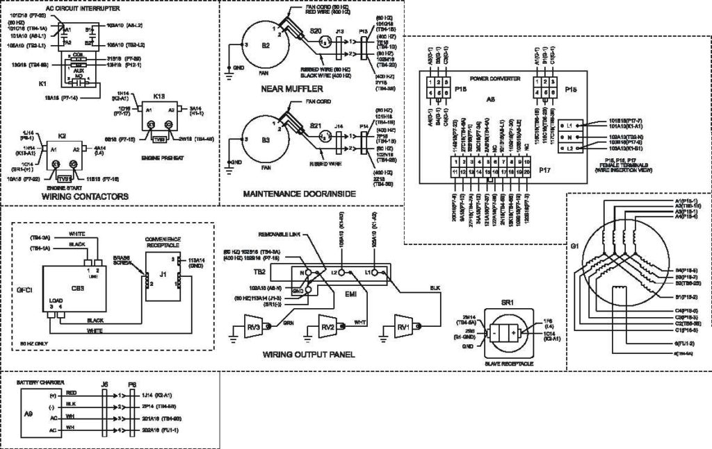 3 Phase Generator Wiring Diagram With Army Tm 9 6115 639 13 Air