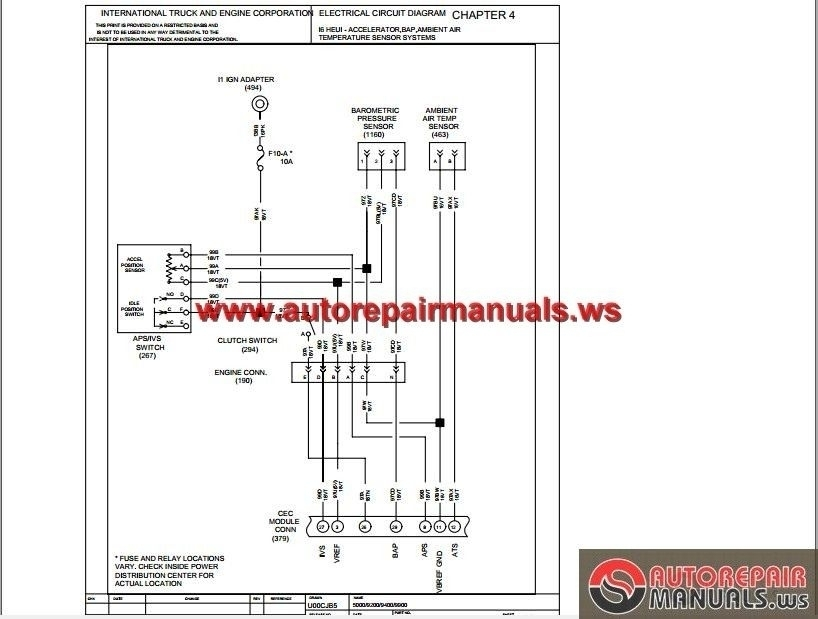 International Truck Electrical Diagrams | Wiring Diagram on