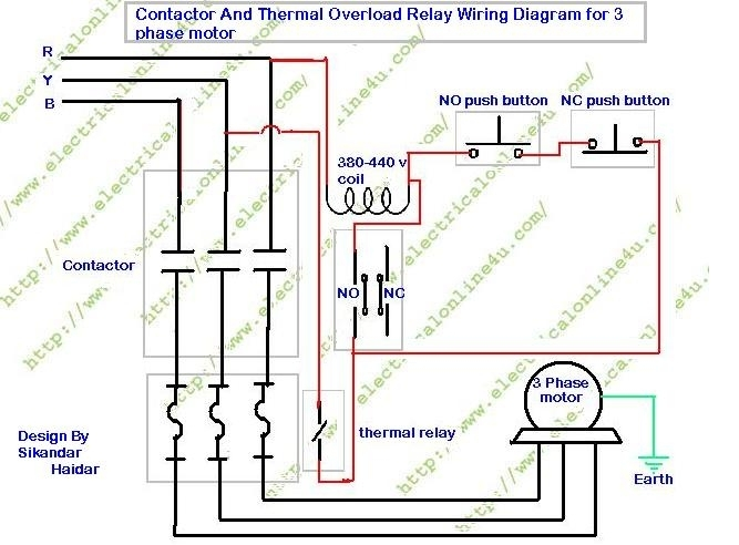 how to wire contactor and overload relay contactor wiring with 3 phase motor wiring diagram contactor relay contactor wiring diagrams single phase contactor wiring diagram at soozxer.org