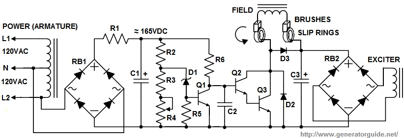 Wiring Diagram 3 Phase Generator Excitor