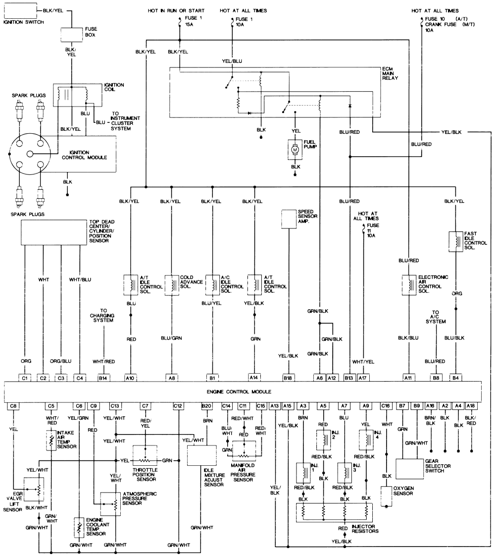 Wiring Diagram For 1991 Honda Accord - Wiring Diagrams Hidden on