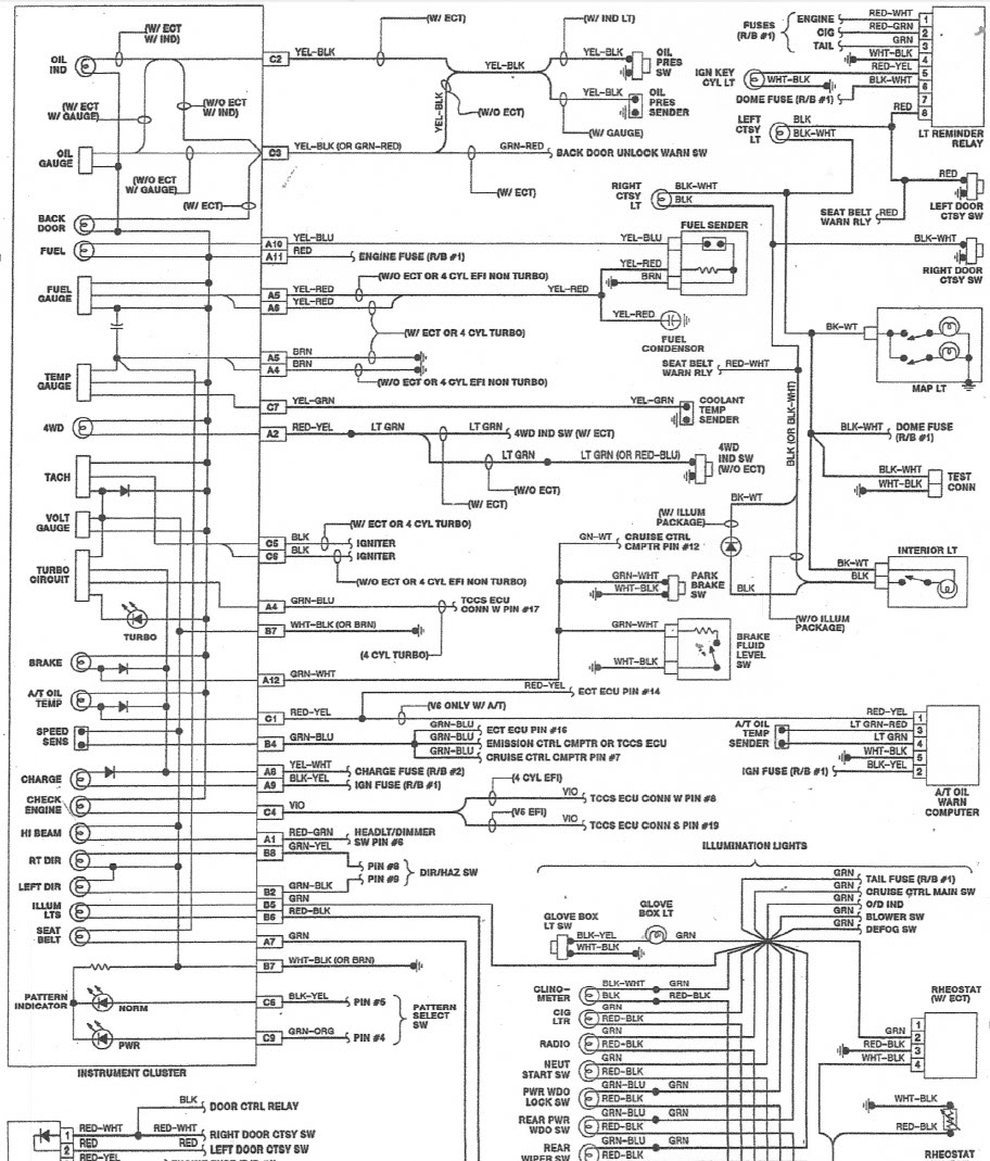 1985 toyota pickup engine wiring harness diagram