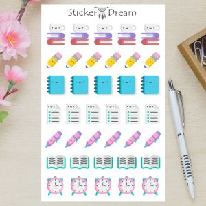 Sticker Dream - Cartela Vamos Estudar