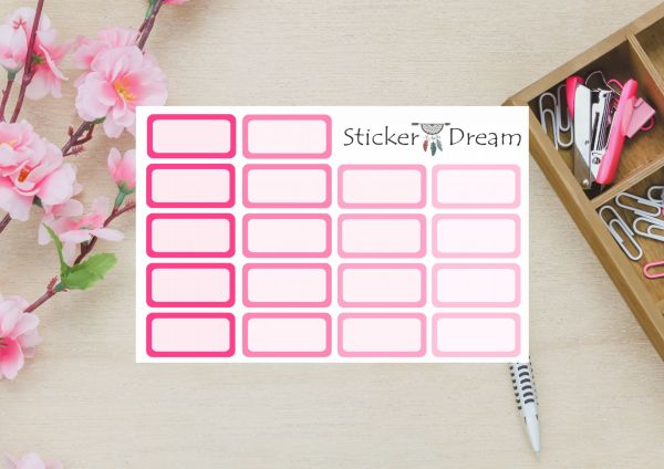 Sticker Dream - Kit Half Box Rosa