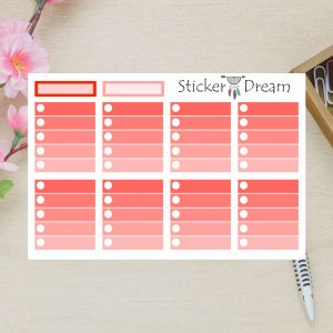 Sticker Dream - Full Box My Planner Vermelho