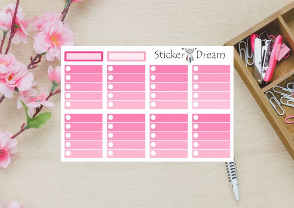 Sticker Dream - Full Box My Planner Rosa 2