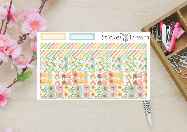 Sticker Dream - Whasi Strip Flores e Abelhas