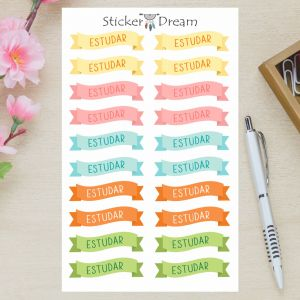 Sticker Dream - Cartela Estudar Header