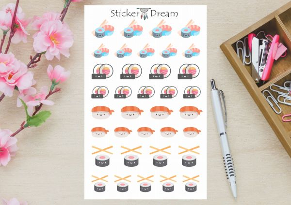 Sticker Dream - Cartela Sushi