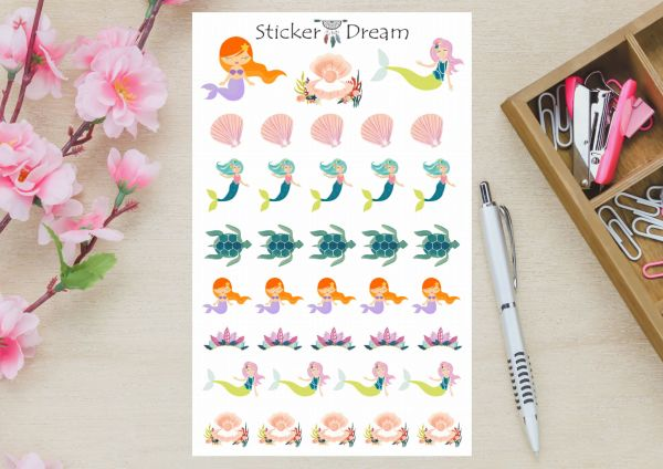Sticker Dream - Cartela Sereia