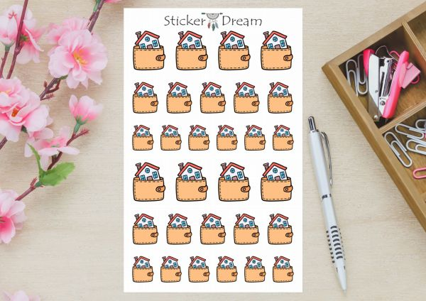 Sticker Dream - Cartela Pagar o Aluguel