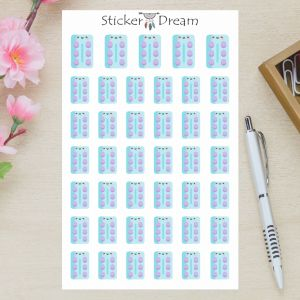 Sticker Dream - Cartela Anticoncepcional