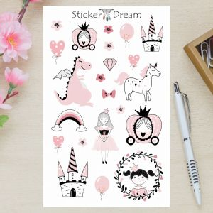 Sticker Dream - Cartela Princesa
