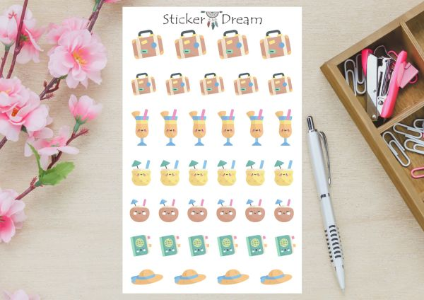 Sticker Dream - Cartela Summer