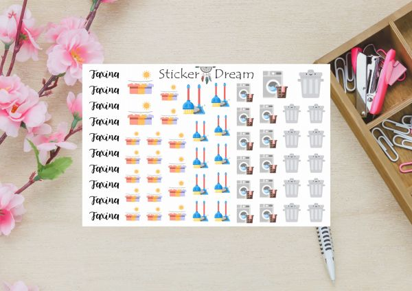 Sticker Dream - Cartela Super Cuidados com a Casa