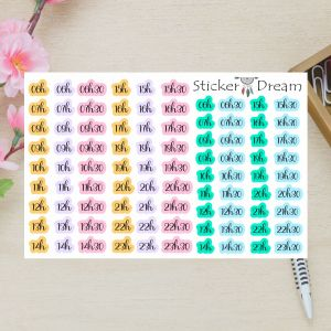 Sticker Dream - Cartela Super Horas Coloridas