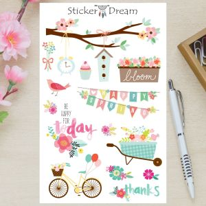 Sticker Dream - Cartela Spring