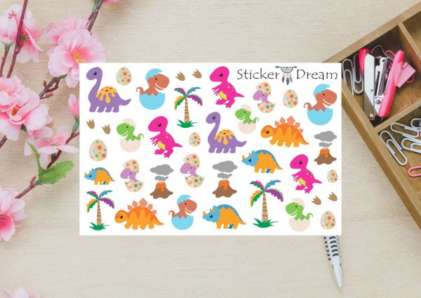 Sticker Dream - Cartela Super Dinossauros