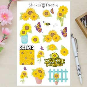 Sticker Dream - Cartela Girassol