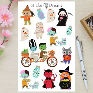 Sticker Dream - Cartela Halloween Kids