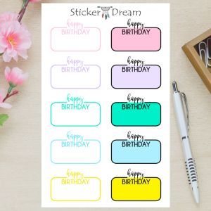 Sticker Dream - Cartela Half Box Happy BDAY