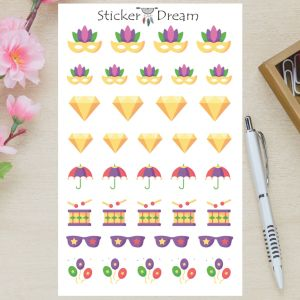 Sticker Dream - Cartela Carnaval