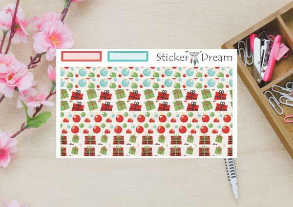 Sticker Dream - Washi Strip Presentes de Natal