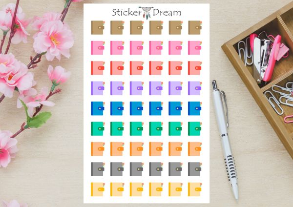 Sticker Dream - Cartela Agenda