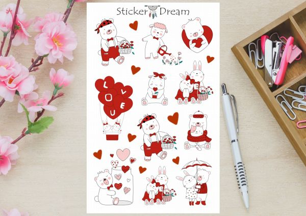 Sticker Dream - Cartela Love is in the air