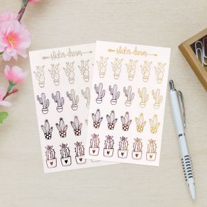 Sticker Dream - Cartela Foil Cacto