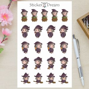 Sticker Dream - Cartela Bruxinha