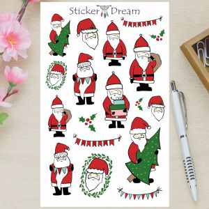 Sticker Dream - Cartela Papai Noel