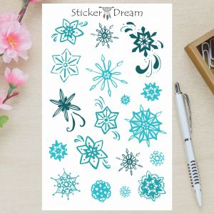 Sticker Dream - Cartela Flocos de Neve
