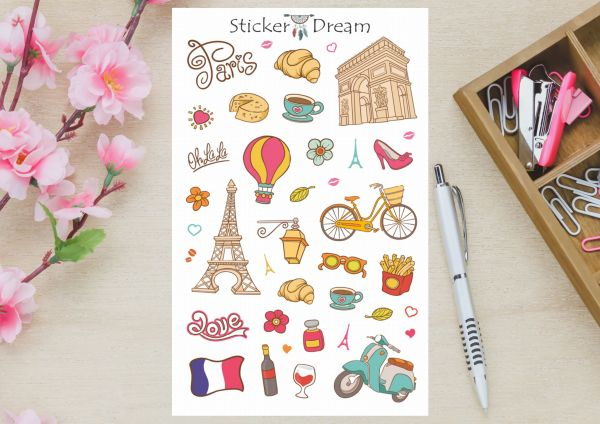 Sticker Dream - Cartela Paris