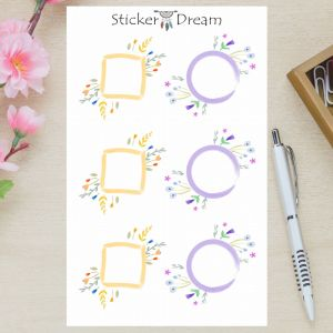 Sticker Dream - Cartela Quadro Floral