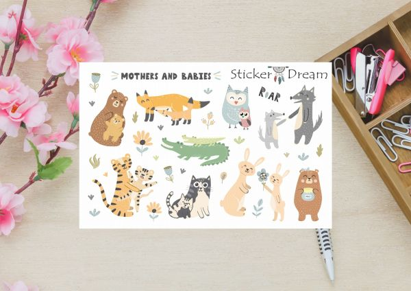 Sticker Dream - Super Mothers and babies