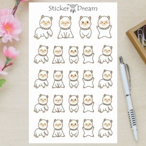 Sticker Dream - Cartela Cute Baby Lhama