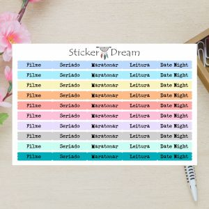 Sticker Dream - Cartela Super Funcional Hobbies