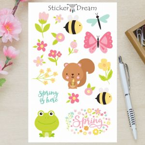 Sticker Dream - Cartela Spring is Here