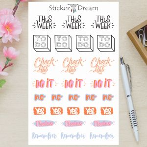 Sticker Dream - Cartela This Week