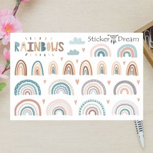 Sticker Dream - Cartela Super Rainbow