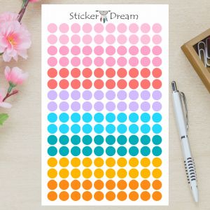 Sticker Dream - Cartela Bolinhas Color
