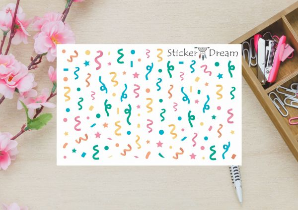 Sticker Dream - Cartela Super Confete