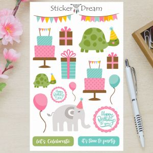 Sticker Dream - Cartela Let's Celebrate