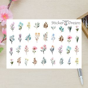 Sticker Dream - Cartela Super Flores Aquarela