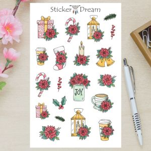 Sticker Dream - Cartela Christmas Joy