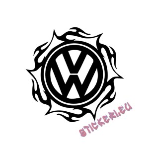 Стикер Volkswagen емблема 4 1