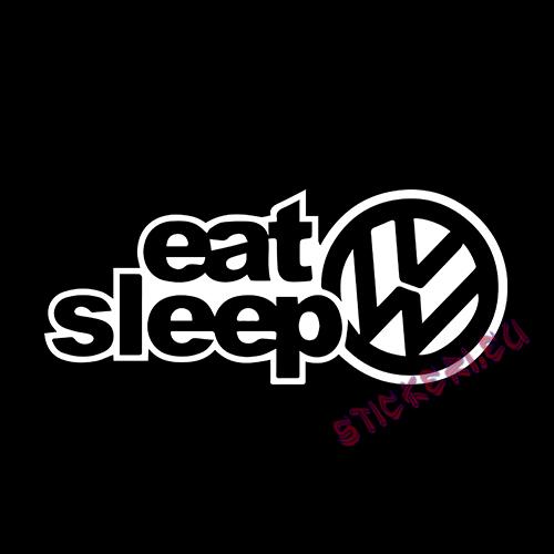 Стикер Eat Sleep VW 2