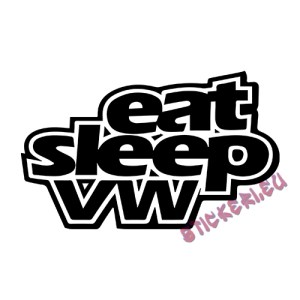 Стикер Eat Sleep VW 2 1