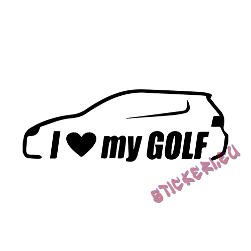 Стикер VW I Love my Golf 2